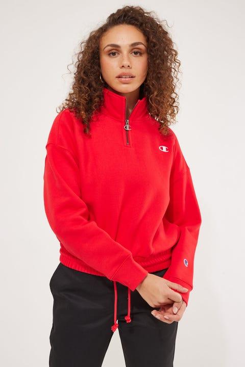 Champion Reverse Weave Quarter Zip Team Red Scarlet