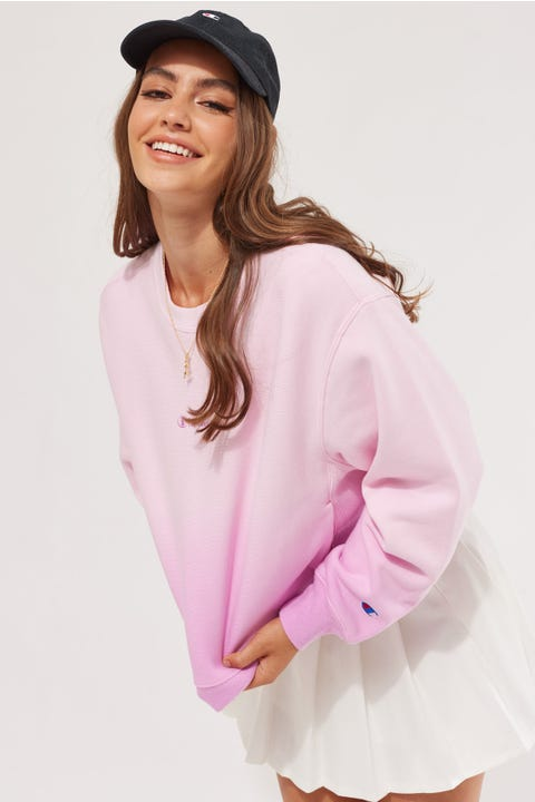 Champion Reverse Weave BF Ombre Crew Orchid Ombre/Paper Orchid