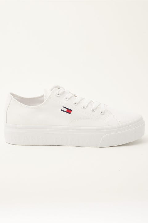 Tommy Jeans TJ Flatform White