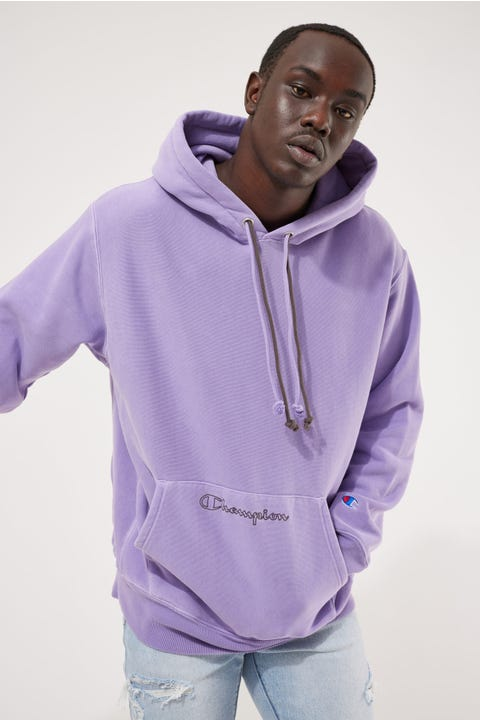 Champion Garment Dye Reverse Weave Hoodie Lavender Field