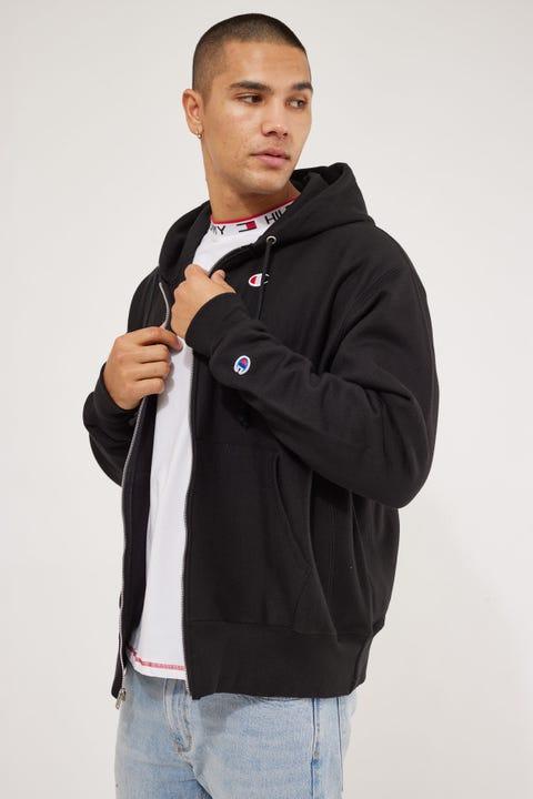 Champion Reverse Weave Full Zip Hoodie Black