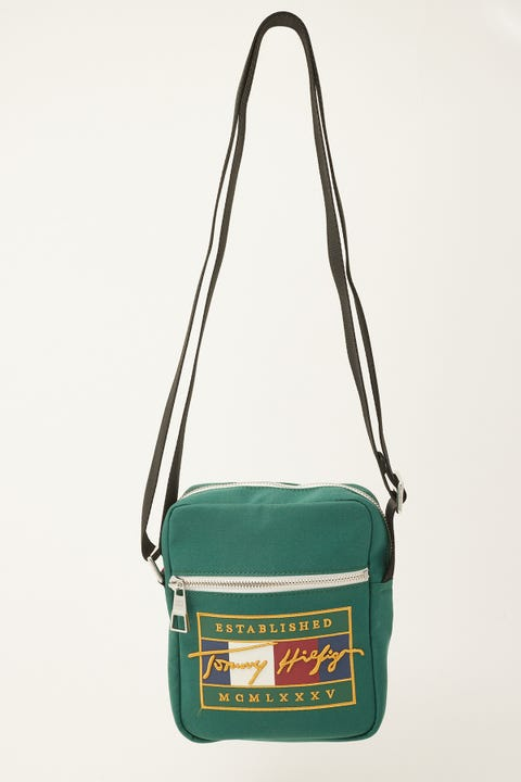 Tommy Jeans Signature Flag Reporter Rural Green