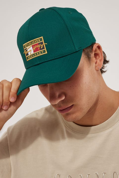Tommy Jeans Patch Signature Cap Rural Green