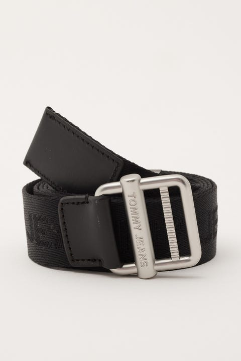 Tommy Jeans Essential Webbing Belt 3.5 Black