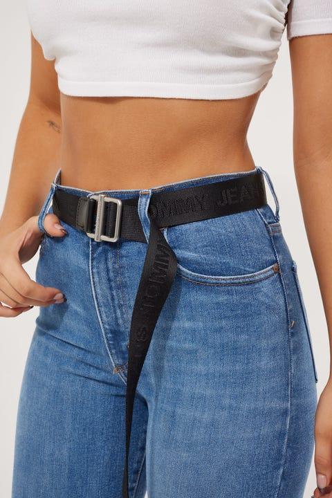 Tommy Jeans Essential Webbing Belt 3.5 Black