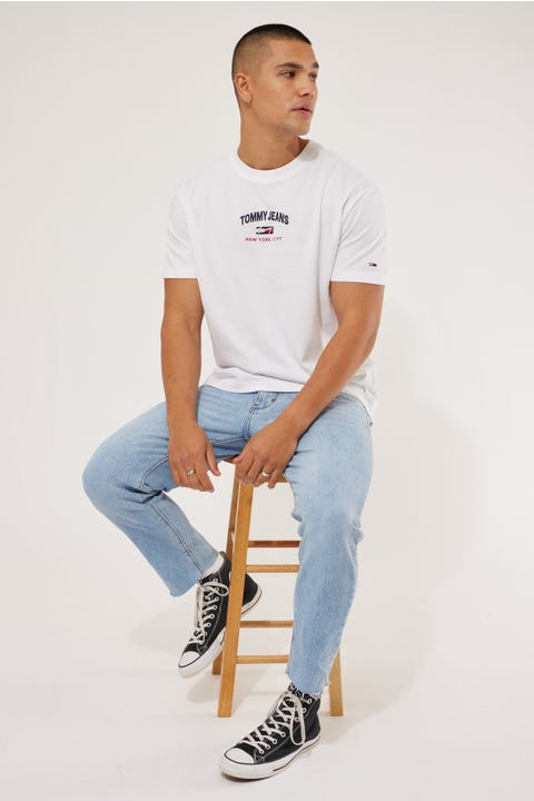 Tommy Jeans TJM Timeless Tommy Script Tee White