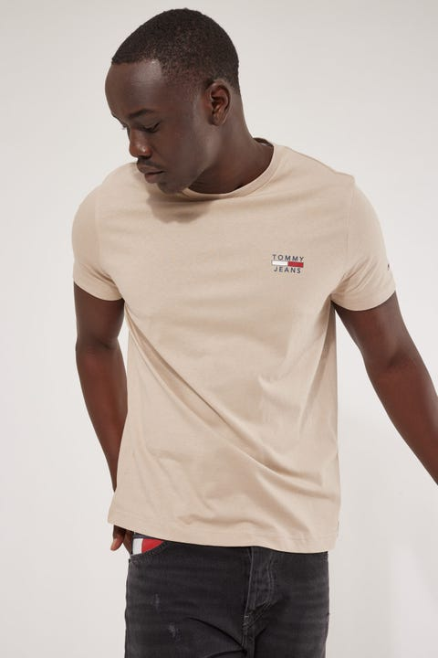 Tommy Jeans TJM Chest Logo Tee Soft Beige