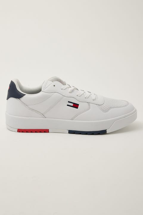 Tommy Jeans Basket Leather White