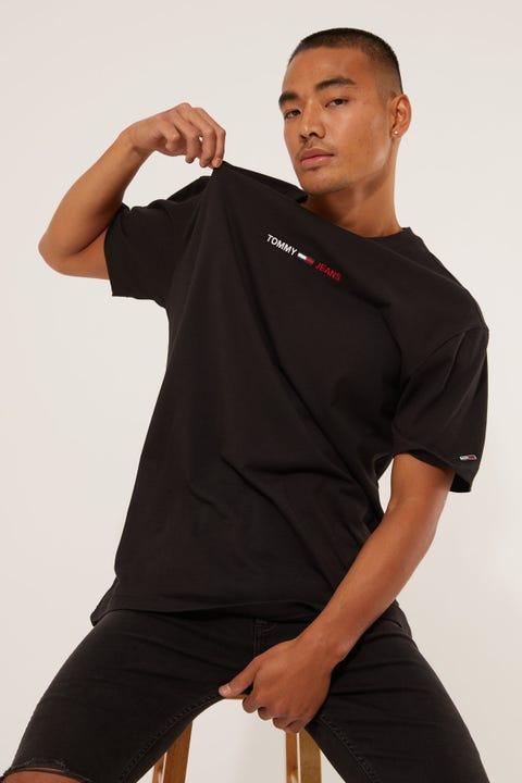 Tommy Jeans TJM Linear Logo Tee Black