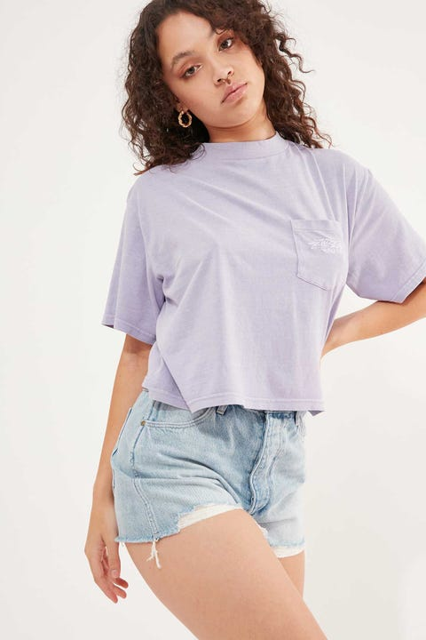 Stussy Designs Pocket Boxy Tee Lilac