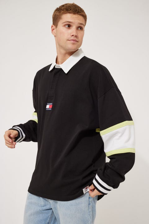 Tommy Jeans TJM Tommy Badge Rugby Polo Black/Multi