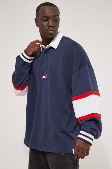 Tommy Jeans TJM Tommy Badge Rugby Polo Twilight Navy/Multi