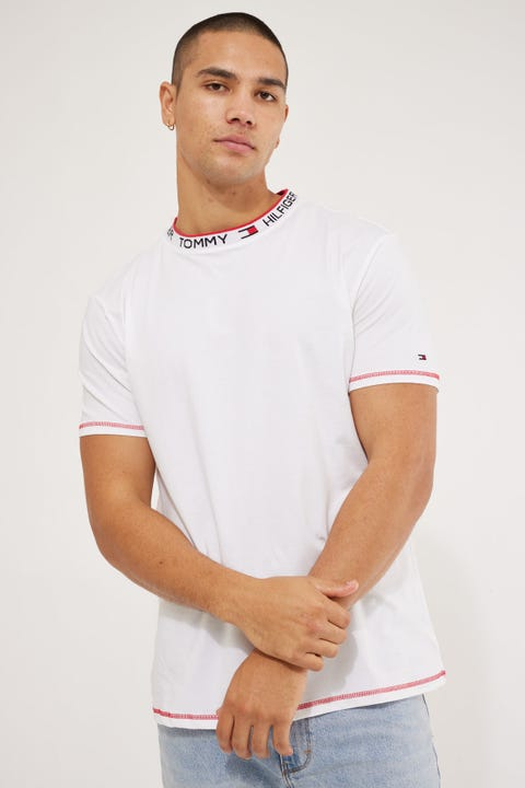 Tommy Jeans CN SS Logo Tee White