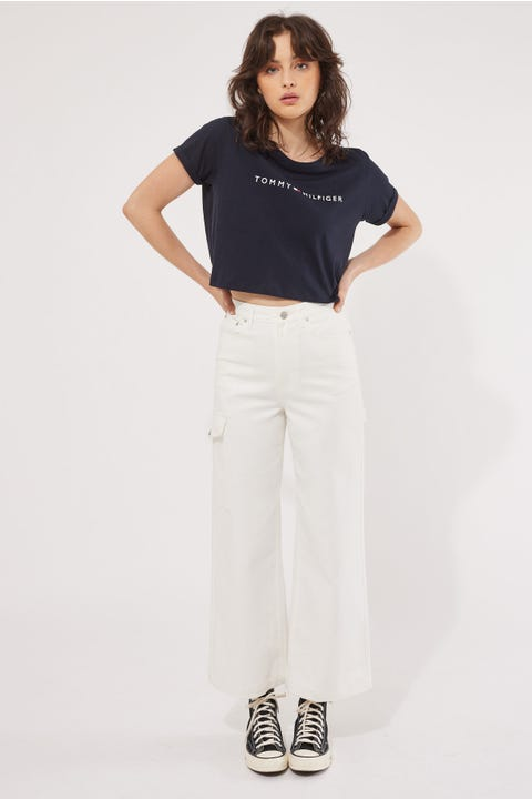 Tommy Jeans Tommy 85 Cropped Tee Desert Sky