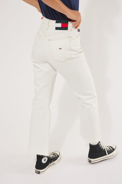 Tommy Jeans Harper High Rise Flare Ankle Save Sp White Rgd