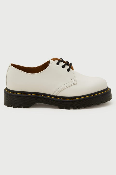 Dr Martens Womens 1461 Bex 3 Eye White Smooth