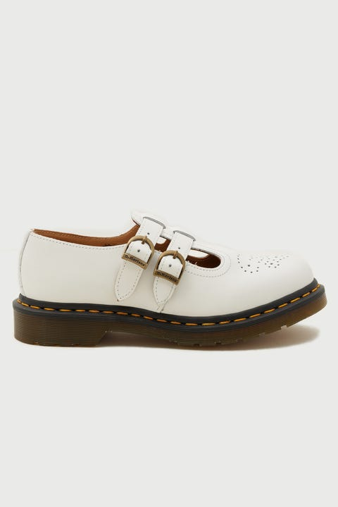 Dr Martens Womens 8065 Mary Jane White Smooth