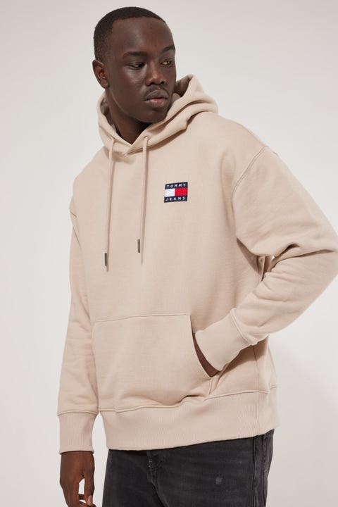 Tommy Jeans TJM Tommy Badge Hoodie Soft Beige