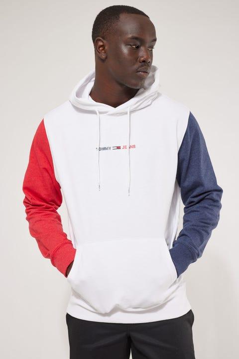 Tommy Jeans TJM Half and Half Hoodie White Multi