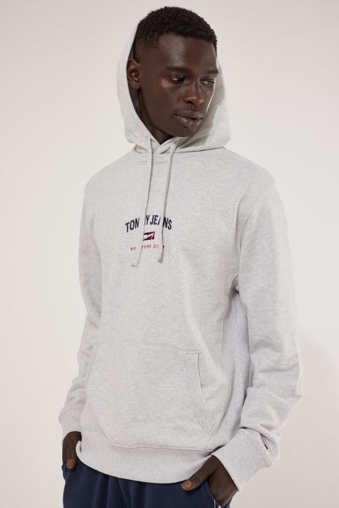 Tommy Jeans TJM Timeless Tommy Hoodie Silver Grey Heather