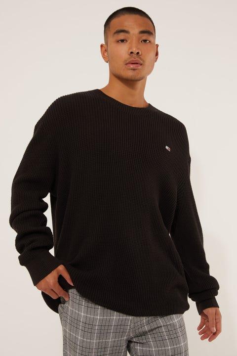 Tommy Jeans TJM Honeycomb Sweater Black