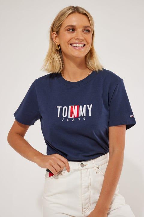 Tommy Jeans Regular Timeless Box Tee Twilight Navy