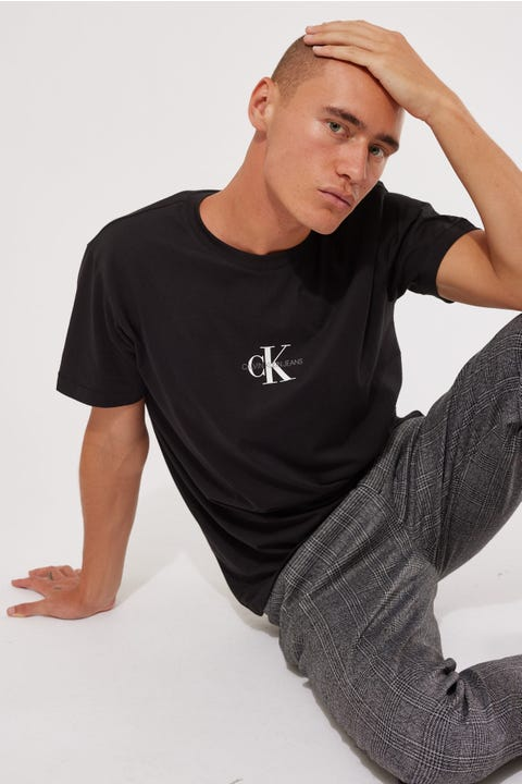 Calvin Klein Small Chest Monogram SS Tee Black