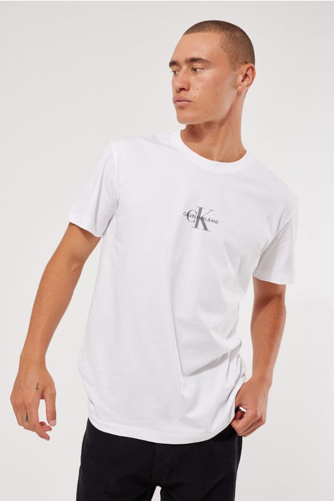 Calvin Klein Small Chest Monogram SS Tee Bright White