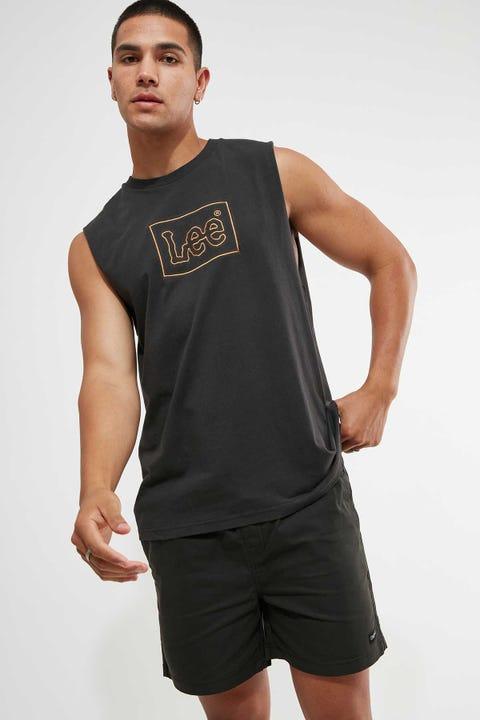 Lee Lee Line Muscle Tee Washed Black