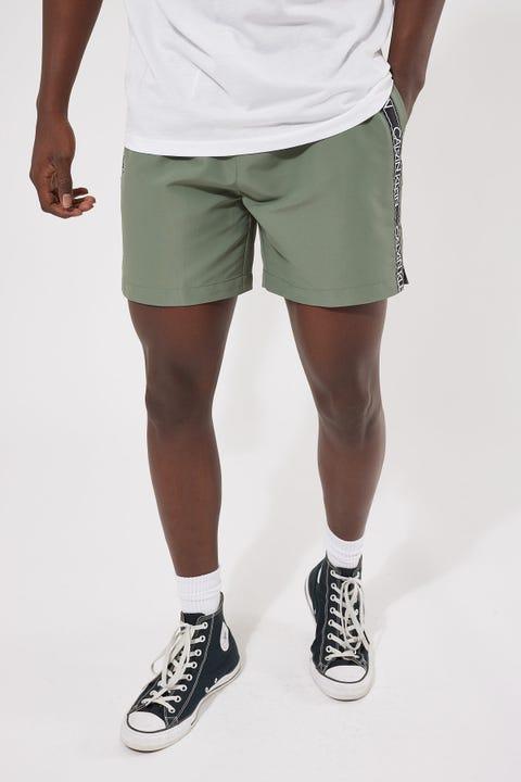 Calvin Klein Core Logo Tape Medium Drawstring Stonewash Green