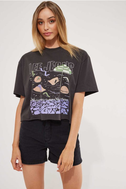 Lee Baggy Crop Tee Beached As