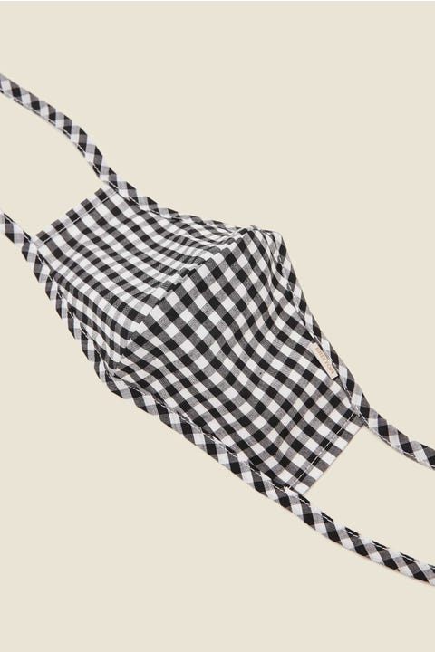 BRIXTON Summer Mask Black Gingham