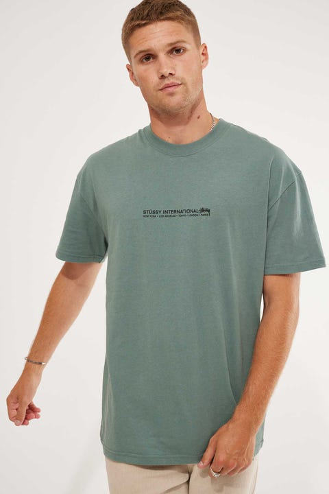 Stussy Fire SS Tee Seagrass