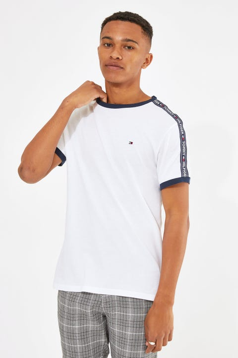 Tommy Jeans RN SS Tee White