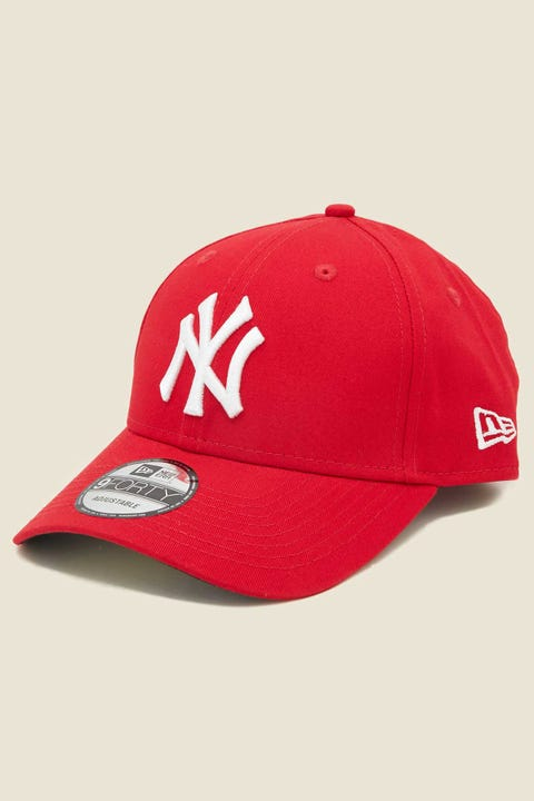 NEW ERA 9Forty NY Yankees Clothstrap Scarlet/White