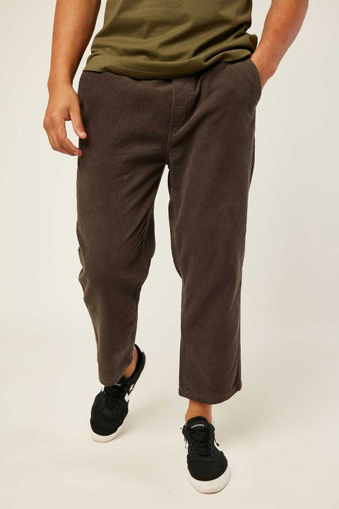 Common Need Barrel Cord Pant Washed Black