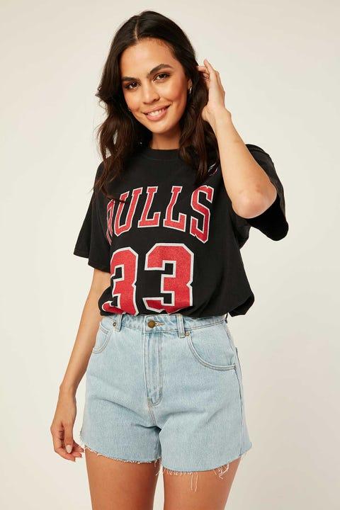 Mitchell & Ness Bulls Name & Number Tee Vintage Black
