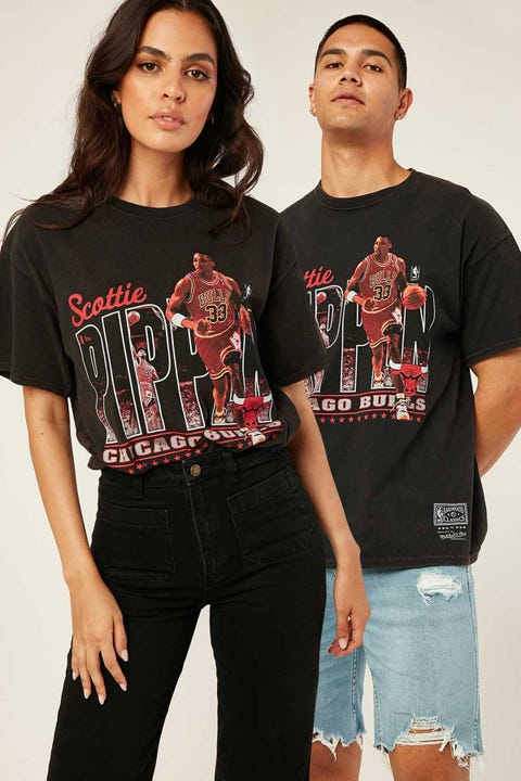 Mitchell & Ness Pippen Legend Photo Tee Vintage Black