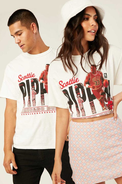 Mitchell & Ness Pippen Legend Photo Tee Vintage White