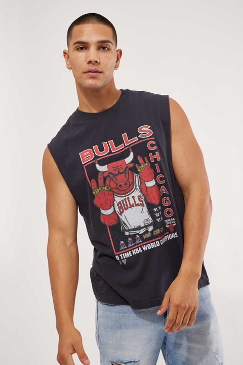 Mitchell & Ness Benny The Bull 6 Rings Muscle Tee Vintage Black
