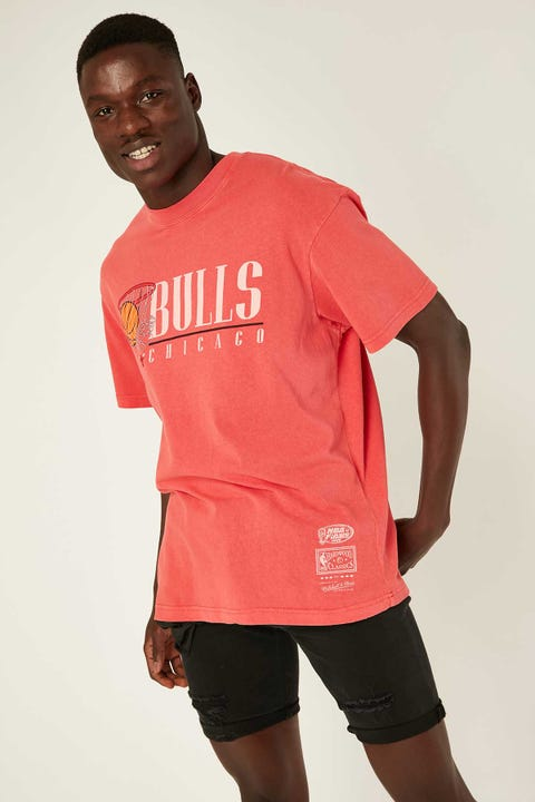 Mitchell & Ness Vintage Hoops SS Tee Faded Red