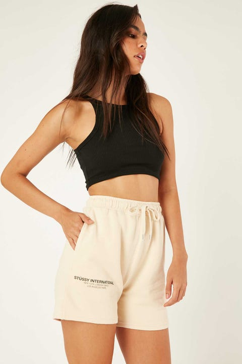 Stussy Text LW Waisted Short White