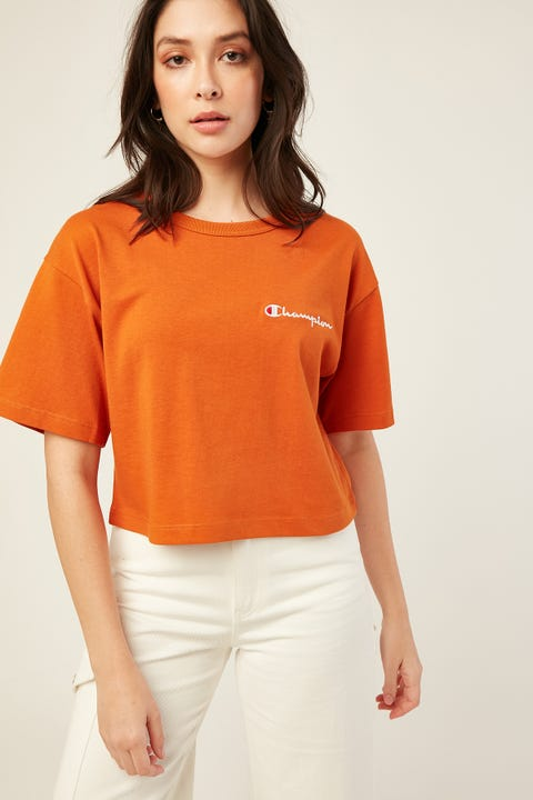 Champion Heritage Crop Tee Ornamental Rust