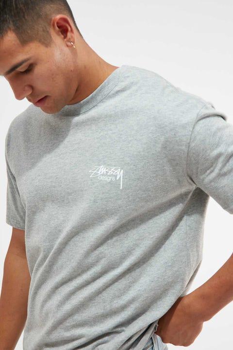 Stussy Designs Tee Grey Marle