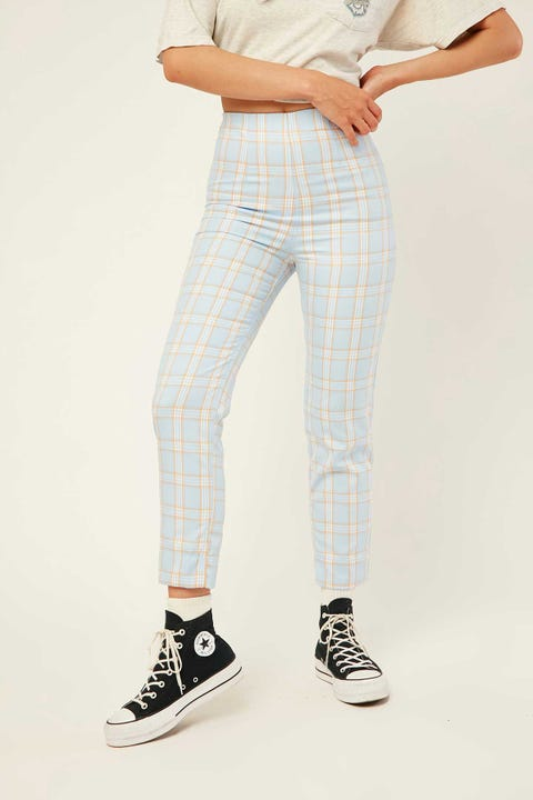 LUCK & TROUBLE Chevy Straight Pant Blue Print