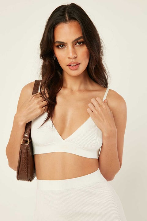 Perfect Stranger Knit Bralette White