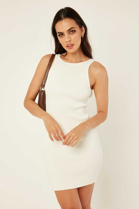 PERFECT STRANGER Nadia Two-Way Mini Dress White