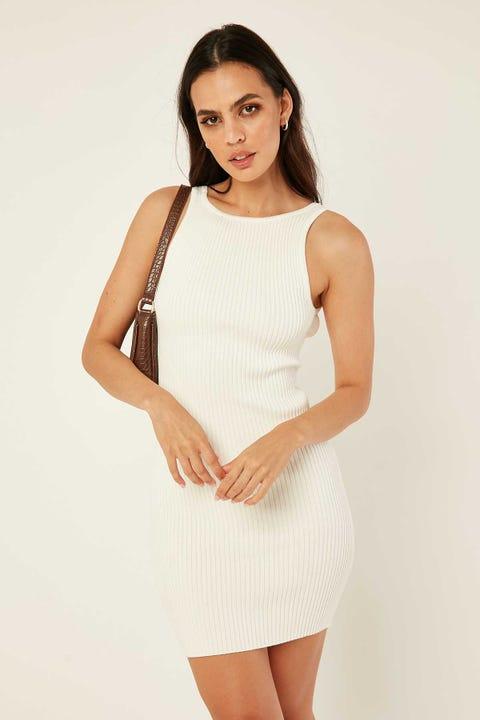 PERFECT STRANGER Nadia Two-Way Mini Dress White