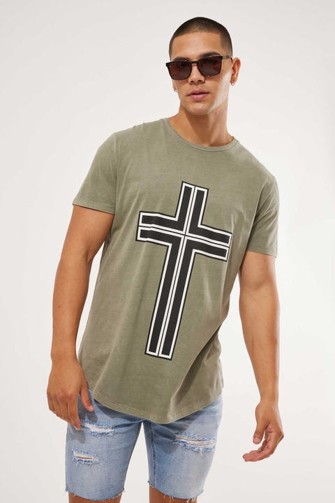 Kiss Chacey Mortal Dual Scoop Tee Pigment Khaki