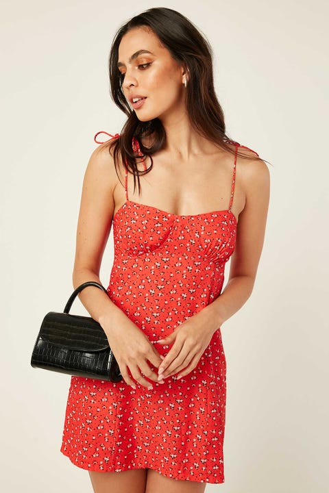 PERFECT STRANGER Tainted Love Dress Red Floral